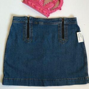Anthro Pilcro and the Letterpress Mini Denim Skirt